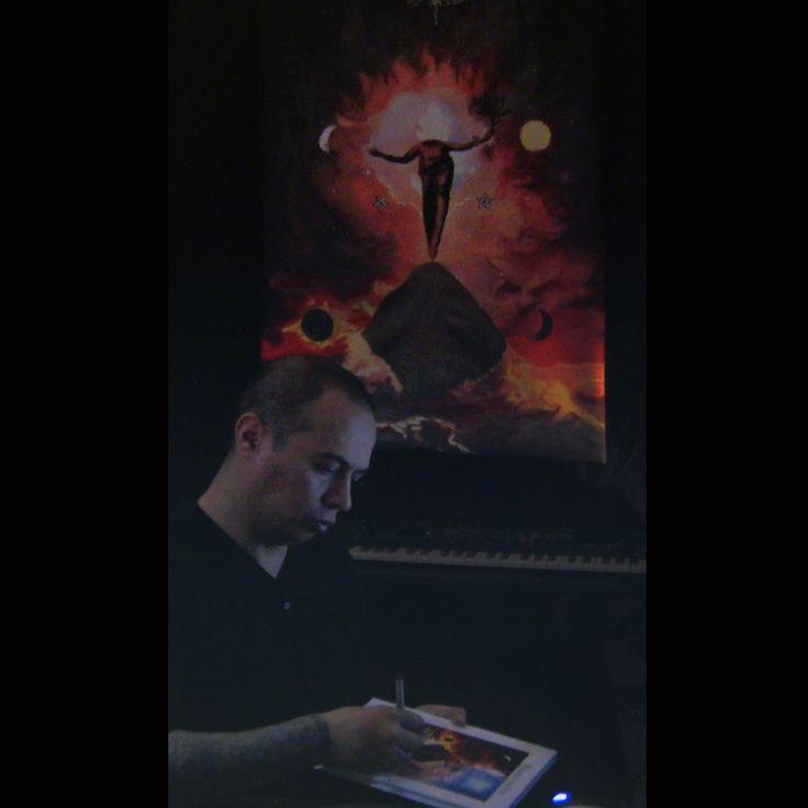 """Firma y dedicatoria de la edición especial del libro de cuentos """"El Santuario que Arde"""" de Hernán Ergueta #hernanergueta #ilustracion #cuentos"""