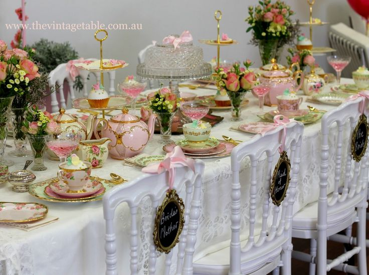 17 best ideas about tea table settings on pinterest tea for Kitchen tea table setting ideas