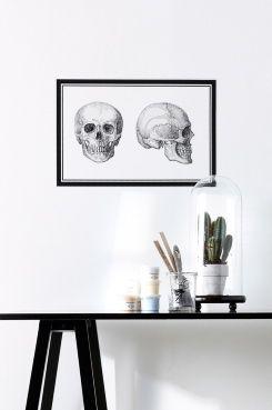 Wallpaper by ellos Väggdekor Skull Väggdekoren fäster enkelt på slät yta som vägg, möbler eller fönster.
