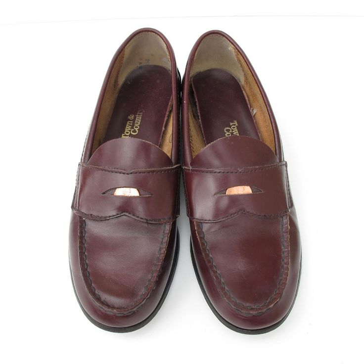 town and country BEST vintage penny loafers 7 | Town and ...