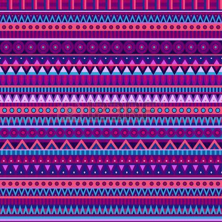 Ethnische Vektor verschiedenen Streifen Motive in verschiedenen Farb Nahtlose Muster Lizenzfreie Bilder