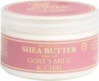 Nubian Heritage Goat's Milk Chai Infused Shea Butter 4 oz by Nubian Heritage. Save 37 Off!. $8.19. Serving Size:; 4 Ounces Lotion. Goat's Milk nourishing components, including proteins, calcium, chloride, copper, manganese, vitamins A, B6, B12 and E, are the foundation for this collection. Conditioning lactic acid softens and soothes skin while our signature three butter blend of Shea, Cocoa and Mango Butters, combined with antioxidant Vitamin E, hydrates and protects.Key Ingredients: Shea…