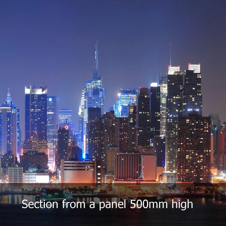 New York Skyline (Night) Acrylic Kitchen Splashback   Enhance Your ...