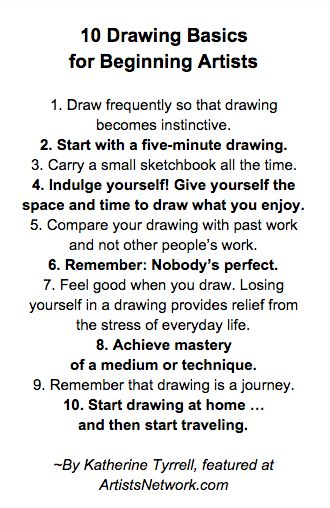 Drawing Basics: Learn 10 New Habits with Katherine Tyrrell's Drawing 365. More art tips at ArtistsNetwork.com! #drawing #art