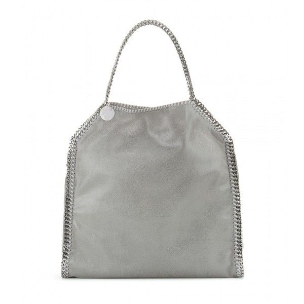 Stella McCartney Falabella Tote ($1,055) ❤ liked on Polyvore featuring bags, handbags, tote bags, grey, gray purse, grey tote bag, stella mccartney tote bag, stella mccartney purse and handbags totes