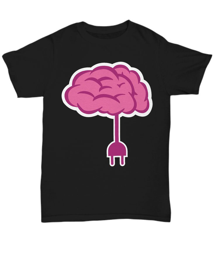 """This funny design features a brain with electric plug along with the words """"Brain Unplugged"""". Get this item if you love funny things and puns!"""
