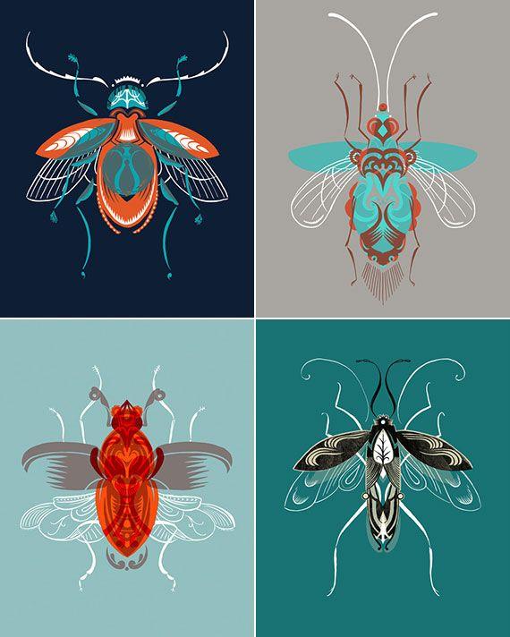 Adam Gale beetle prints