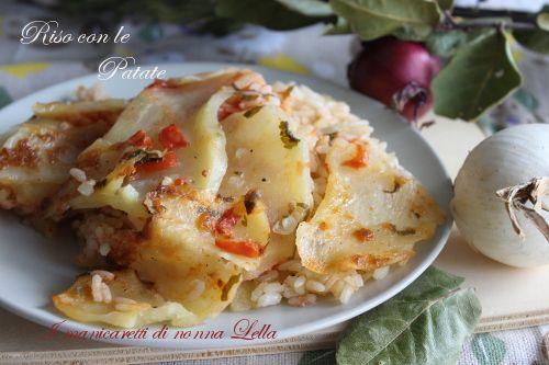 Primo piatto economico dal sapore mediterraneo.....il riso al forno con le patate.