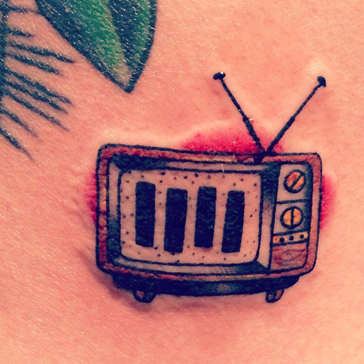 TV party tonight!!! tiny black flag tattoo