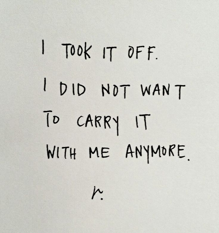 let go of the burden