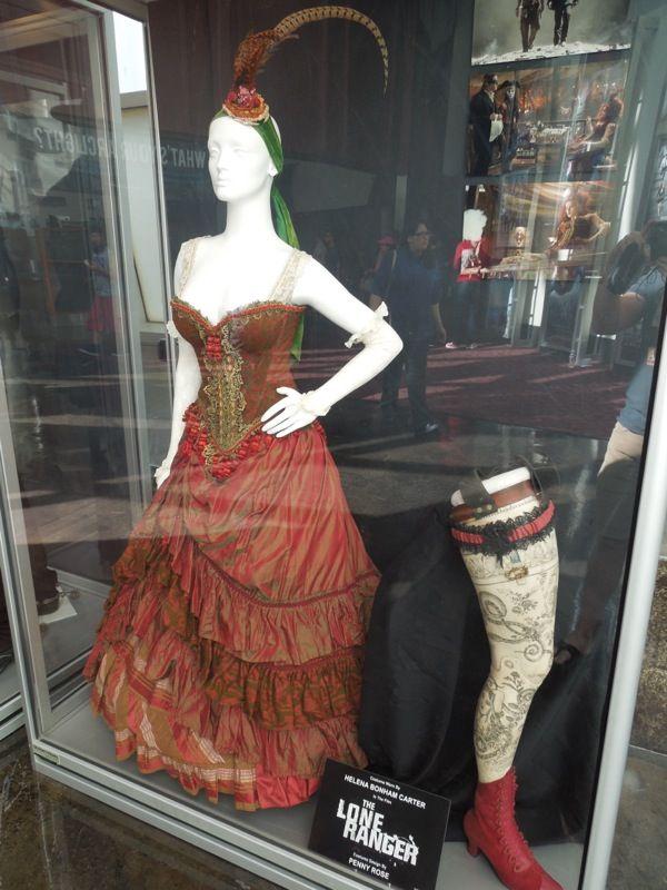 Helena Bonham Carter Red Harrington dress The Lone Ranger