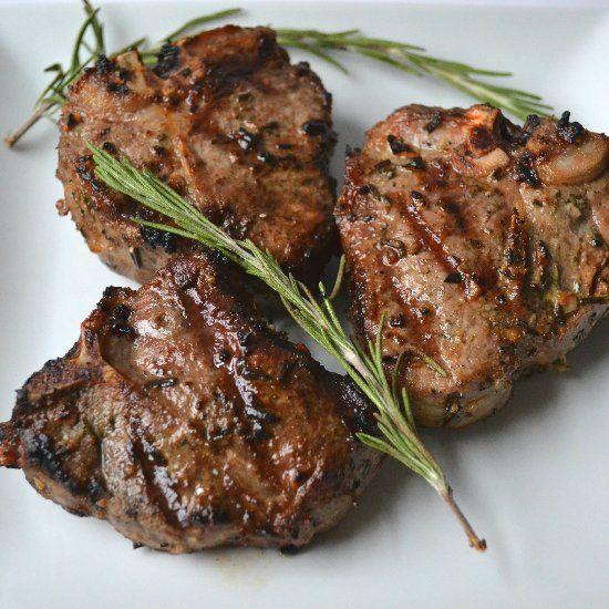 Garlic & Rosemary Grilled Lamb Chop