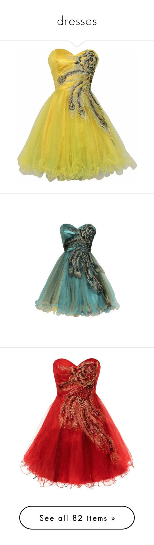"""""""dresses"""" by hope2002 ❤ liked on Polyvore featuring dresses, formal dresses, vestidos, green prom dresses, metallic dress, peacock prom dress, going out dresses, plus size party dresses, plus size and short prom dresses"""