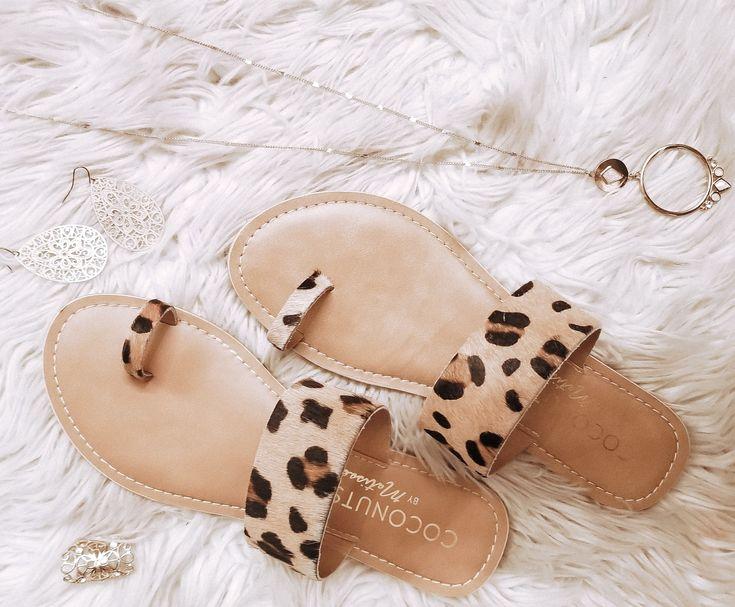 Leopard print sandals  – Shoes