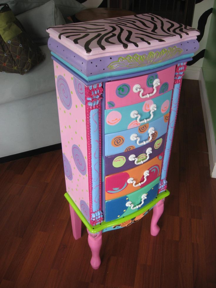 Whimsical handpainted furniture the for Hand painted furniture