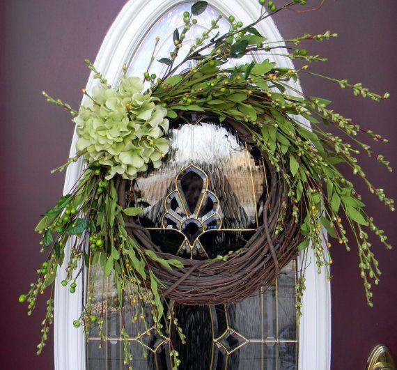 Enchanting Hydrangea WreathDoors Wreaths, Enchanted Hydrangeas, Big Hydrangeas, Doors Decor, Hydrangea Crafts, Wreaths Decor, Round Ench Hydrangeas, Years Round Ench, Hydrangeas Wreaths