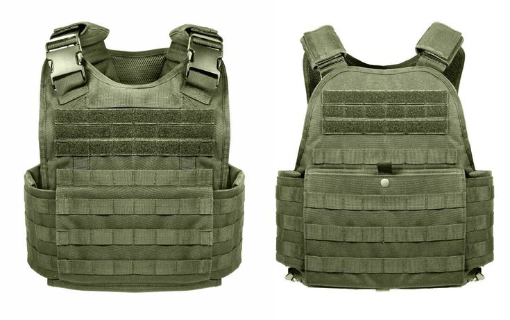 Rothco MOLLE Tactical Plate Carrier Vest - Black or Coyote