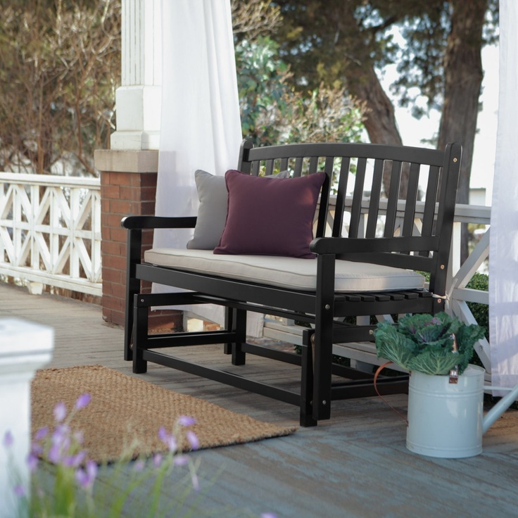 Pleasant Bay Glider Bench - Black - Outdoor Gliders at Porch Swings