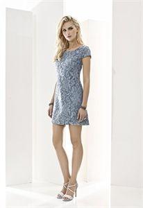 Cabotine vestido corto malla bordado