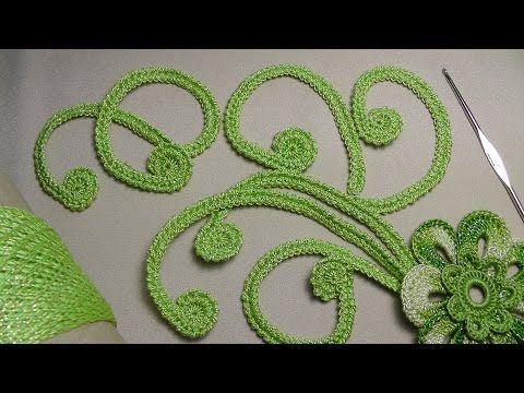 Как связать ЗАВИТОК для ирландского кружева - вязание крючком для начинающих - Irish lace - YouTube