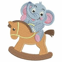 Baby Elephant 9 - 4x4 | What's New | Machine Embroidery Designs | SWAKembroidery.com Ace Points Embroidery