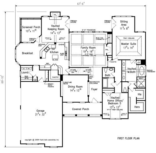 Kitchen House Plans: Home Plans And House Plans By Frank Betz Associates