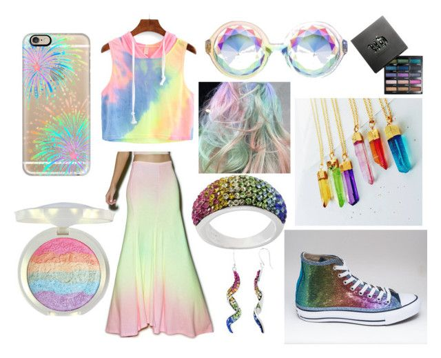 """""""Rainbow"""" by diyloving on Polyvore featuring Casetify, Wildfox, Eclectic Eccentricity and Urban Decay"""