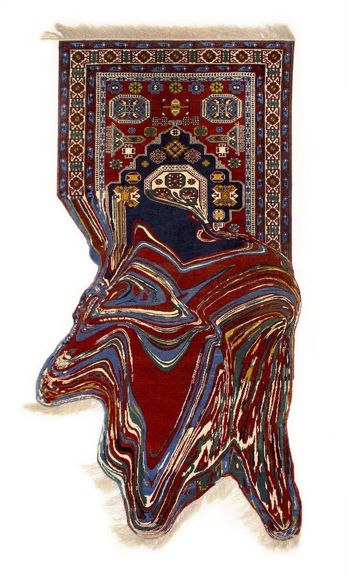 Glitched-Out Contemporary Rugs by Faig Ahmed  Glitched-Out rugs, artistic rugs, Faig Ahmed, rugs art installation, contemporary rugs for more inspirations or amazing pictures check: http://www.bocadolobo.com/en/inspiration-and-ideas/