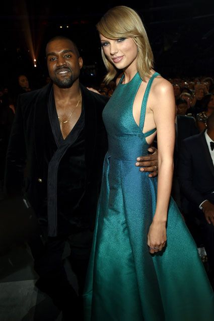 kanye and taylor swift | It's Official: Kanye & Taylor Swift Make Up 6 Years Later at GRAMMYs ...