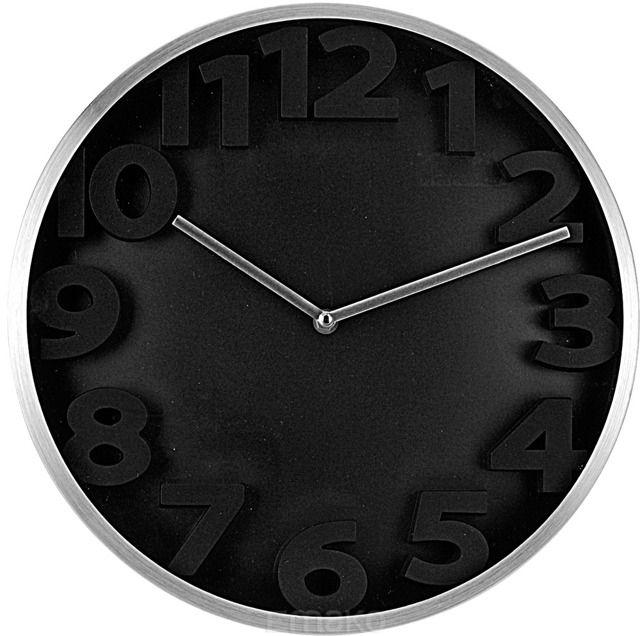 Klasyczny zegar z przejrzystymi i dużymi cyframi. Oryginalny design z pewnością świetnie wpasuje się do każdego pomieszczenia - pokoju gościnnego, biura, kuchni lub sypialni. Wyposażony w wygodne i proste w użyciu pokrętło, które pozwoli w łatwy sposób nastawić aktualny czas. Ø 35 cm
