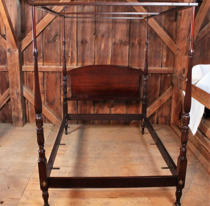Mahogany Queen Size Canopy Bed