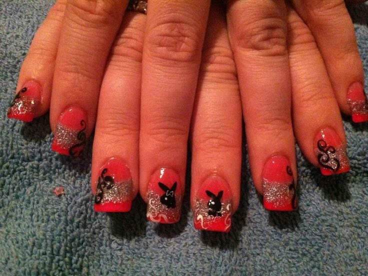 8 best playboy bunny nail designs images on pinterest make up playboy bunny nail design prinsesfo Image collections