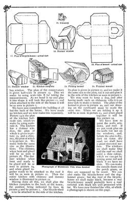 "Plush Possum Studio: Family Fun Project: A ""Modeltown"" Villa Out of Paper"