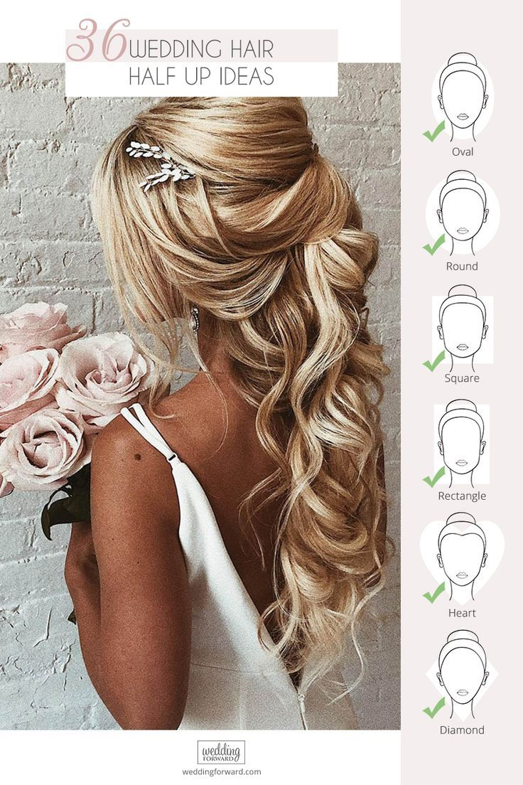 Half up half down wedding hairstyles are timeless and true. Check out these 42 elegant and stunning half updo looks for your wedding day!