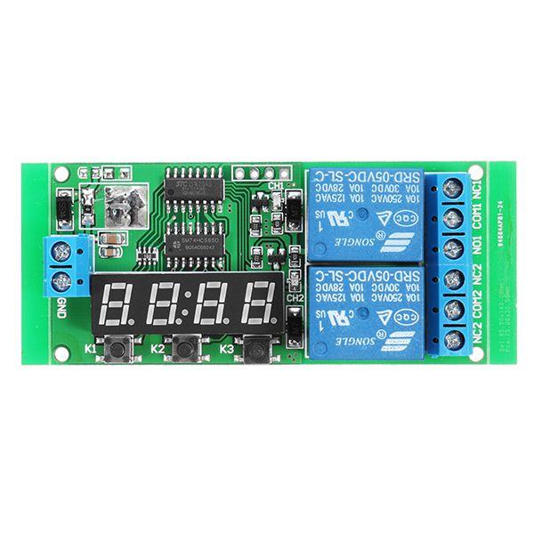 Dc 5v Modulo De Interruptor De Retardo De Retardo De Retardo De 2