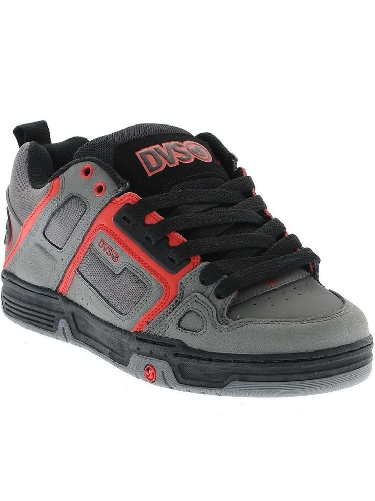DVS Men s Comanche Grey/Red Deegan ShoesSleek, Stylish, Robust....Perfection! ROCK it with these DVS Comanche Deegan Men's Skate Shoe's.     DVS Comanche - Deegan Shoes  Grey/Red  Moulded TPR Heel Cap  Durable Reinforced Ollie Area  High Impact Mid & Insole #dvs #skate #shoes #skateboarding #deegan #moto #new #fashion #collection #men #cool #style #best #grey #quality