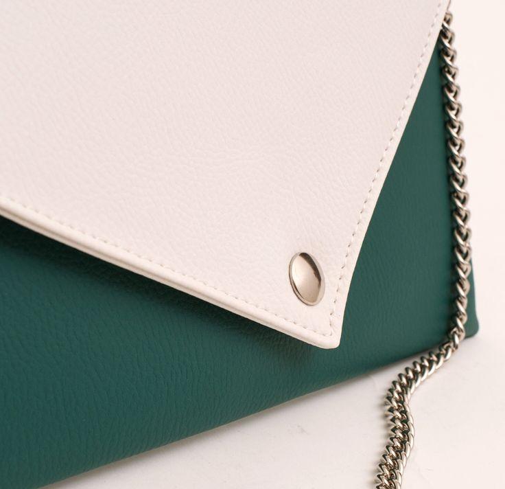 Details of La Pochette Green and White #lacartella #knob_design