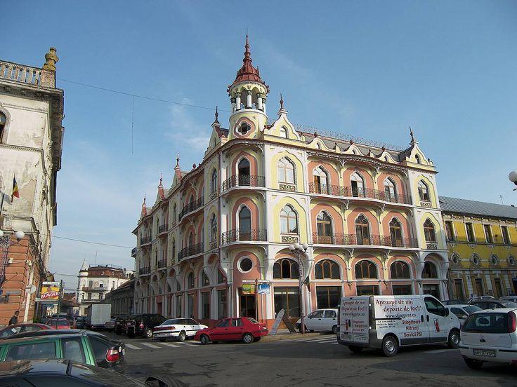 Romania Oradea building city center view