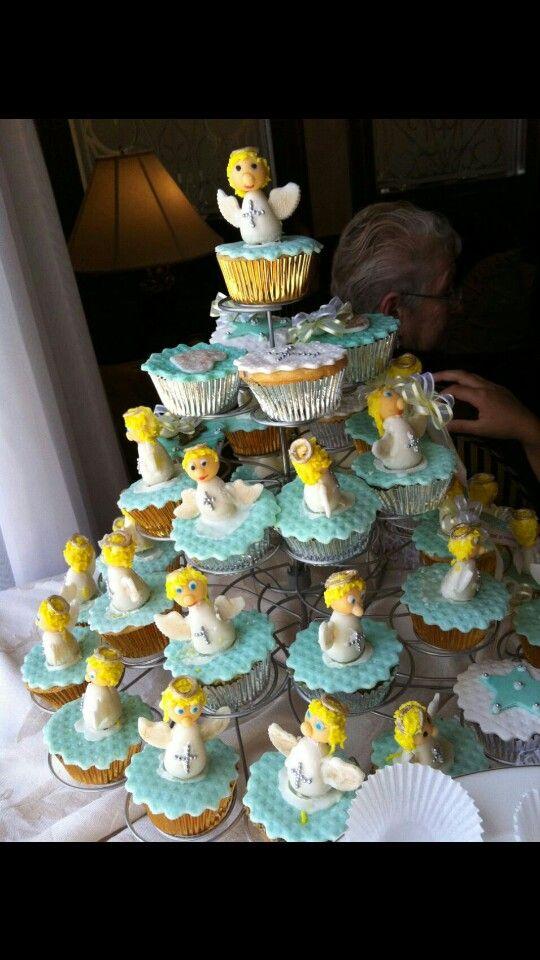cupcakes ángeles bautizo