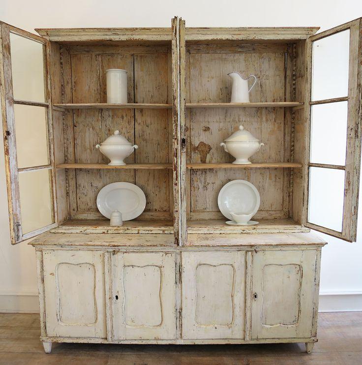 French Kitchen Dresser: 18th Century French Bookcase/Dresser