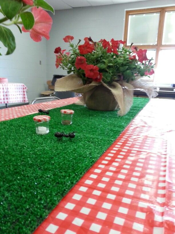 Staff appreciation luncheon. Picnic theme.