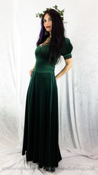 Elanor Gown - medieval goth dress in Steamed Velvet by Moonmaiden  Gothic Clothing UK