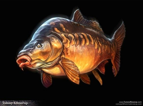 Fish Art by Tommy Kinnerup - Drowning Worms
