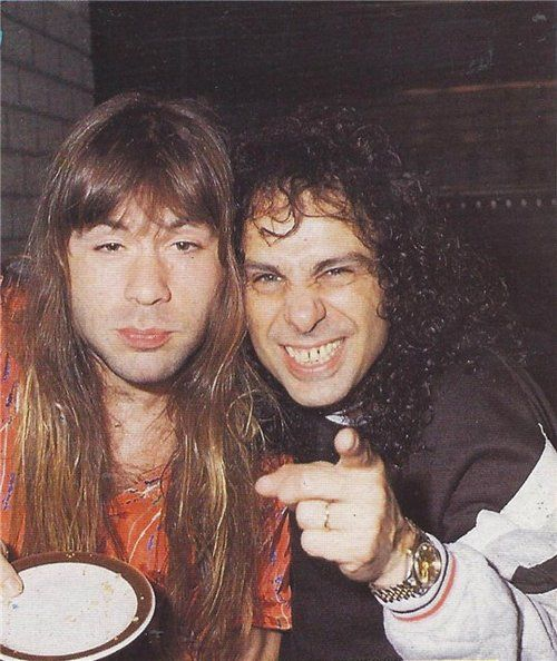 Bruce Dickinson and Ronnie James DIO.......................