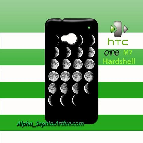 Moon HTC One M7 Case Cover Hardshell