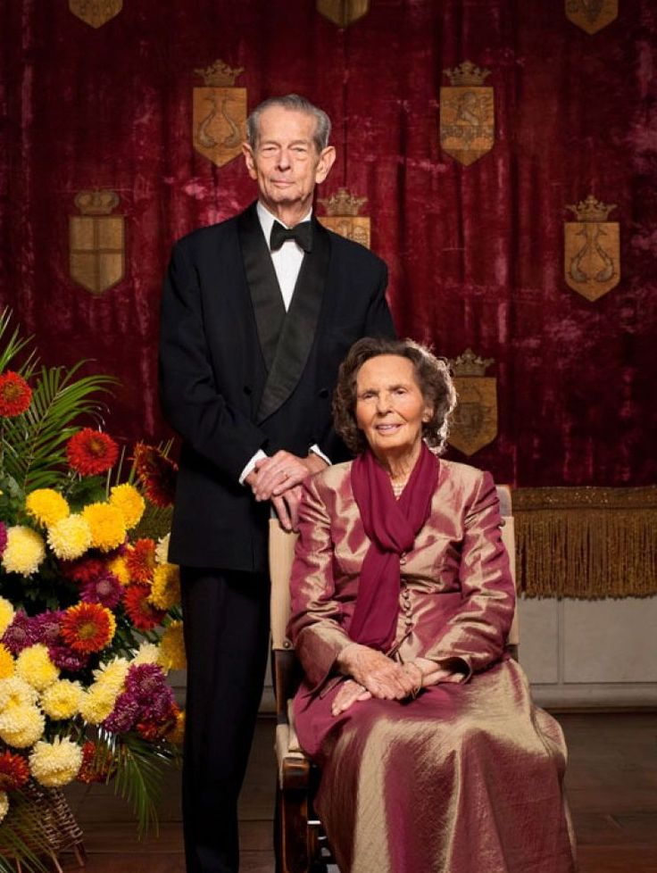 King Michael I of Romania and his wife Queen Anne, The Queen Consort of Romania, Princess of Bourbon-Parma