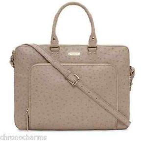 Kate Spade Designer Laptop Briefcase Cross Body Bag Computer Leather Shoulder $498