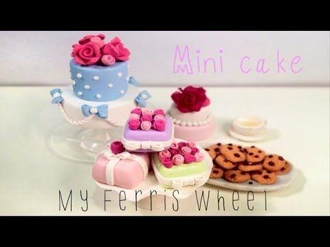 how to make: miniature clay cakes