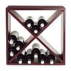 Wine Enthusiast 24-Bottle Wooden Wine Rack Cube