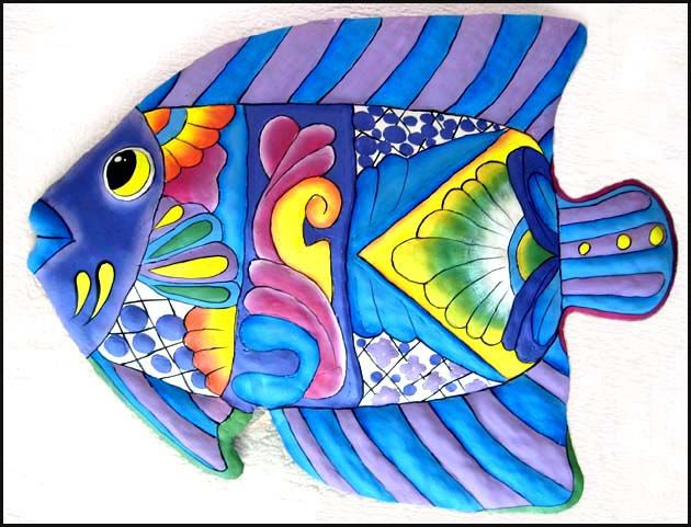 Metal Fish Wall Decor 219 best tropical fish designs - painted metal home decor